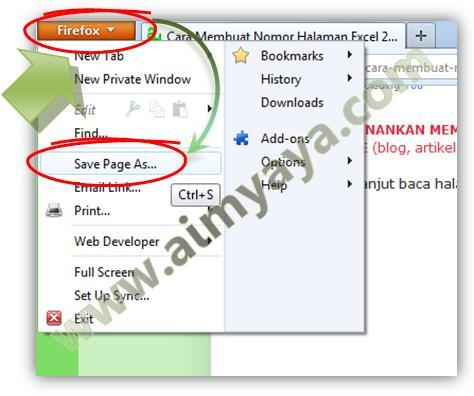 Gambar: Cara Menyimpan Halaman Website di Firefox