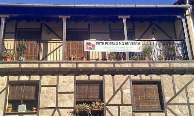 San Esteban de la Sierra, este pueblo no se vende, contra la reforma local