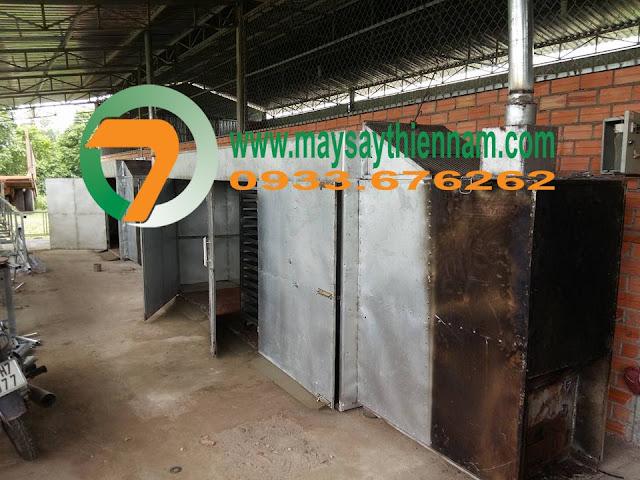 Buồng sấy khoai lang tím tại Tây Ninh