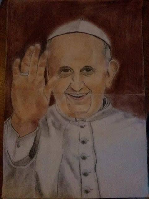 Rysunek - Papież Franciszek