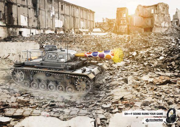 SteelSeries advertisement: Robot