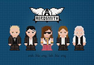 Aerosmith - Cross Stitch PDF Pattern Download