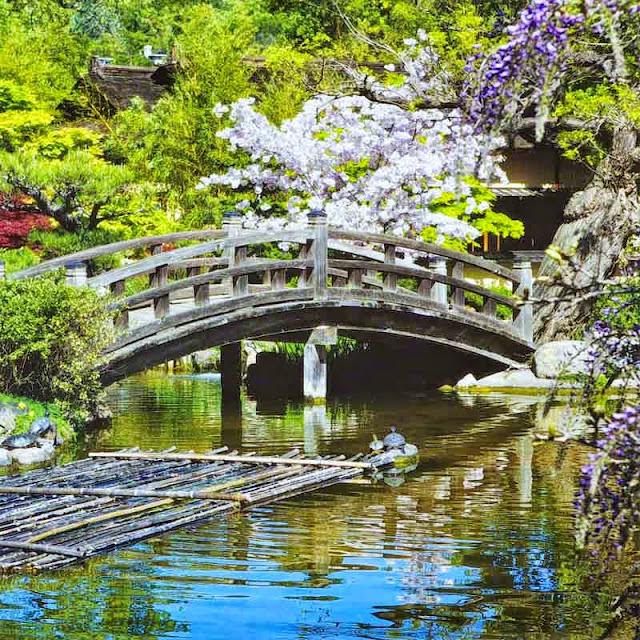 2016 calendar, gardens, Japan