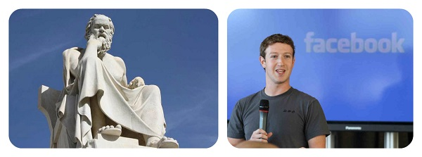 Socrates and Mark Zuckerberg - Corrupting Youth