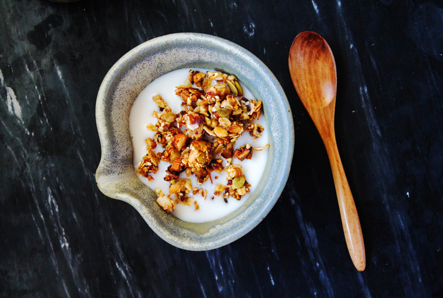 granola, buckwheat, super, wholesome, refined sugar free, Copyright aldentegourmet blog