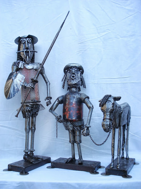 Trio: Quixote, Sancho e rocinante
