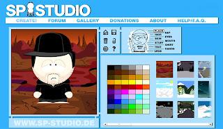 онлайн сервис South Park Studio для бесплатного создания аватаров в стиле персонажей из мультсериала южный парк