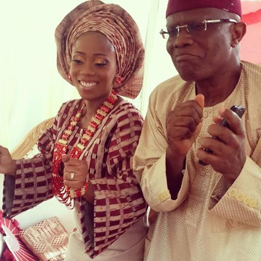 Tosyn Bucknor traditional wedding day with dad