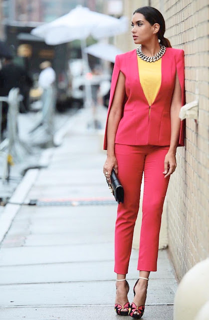 dawilda gonzalez nyfw15 OOTD color blocking