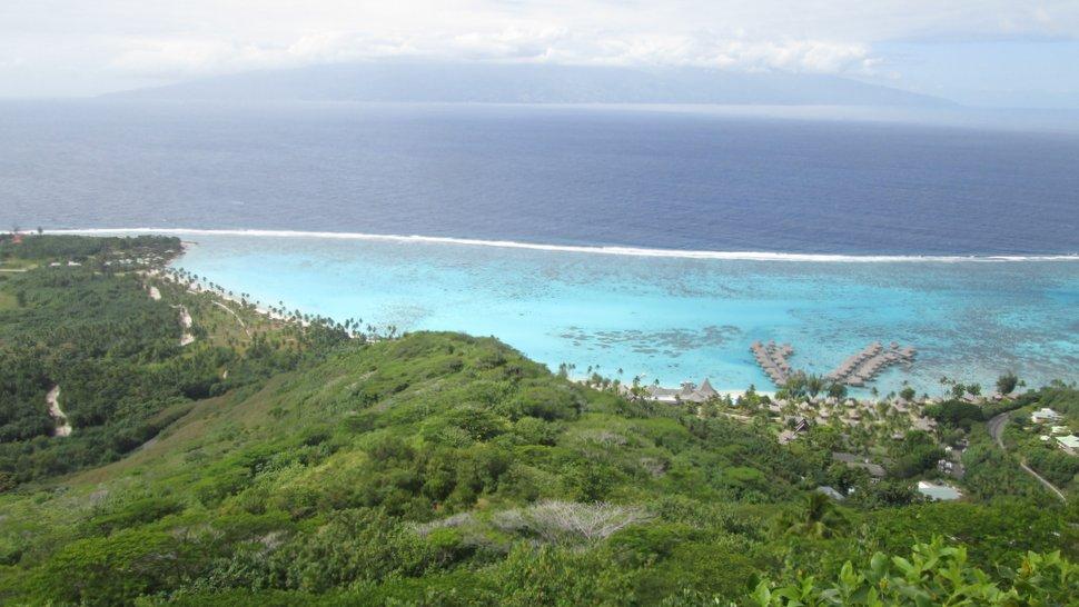 Vue sur le Motu Temae à Moorea - Polynésie