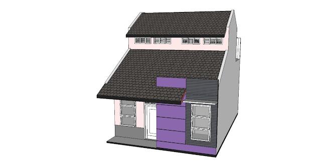 Desain Rumah Minimalis 6 x 9 m dibuat 2 lantai untuk memenuhi ...