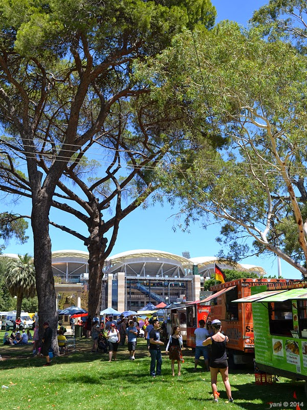 fork on the road with adelaide oval looking on