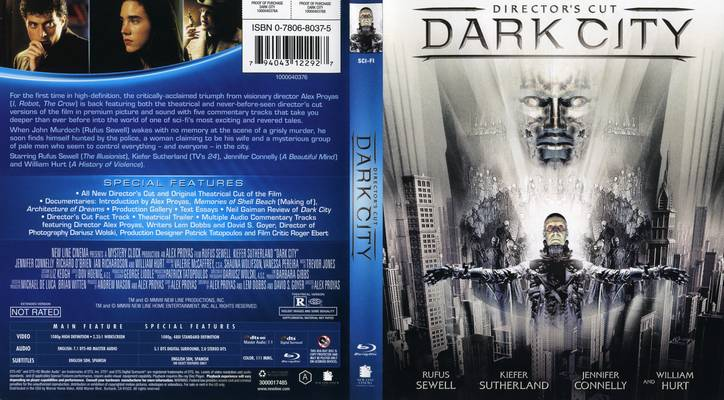DVD Cover Dark City 1998 movieloversreviews.blogspot.com