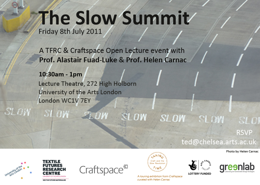 TFRC Connections: Slow Summit OPEN LECTURES