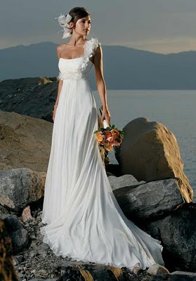 Draped Beach Wedding Dress