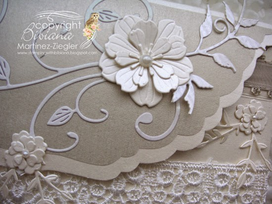 wedding envelope detail flower