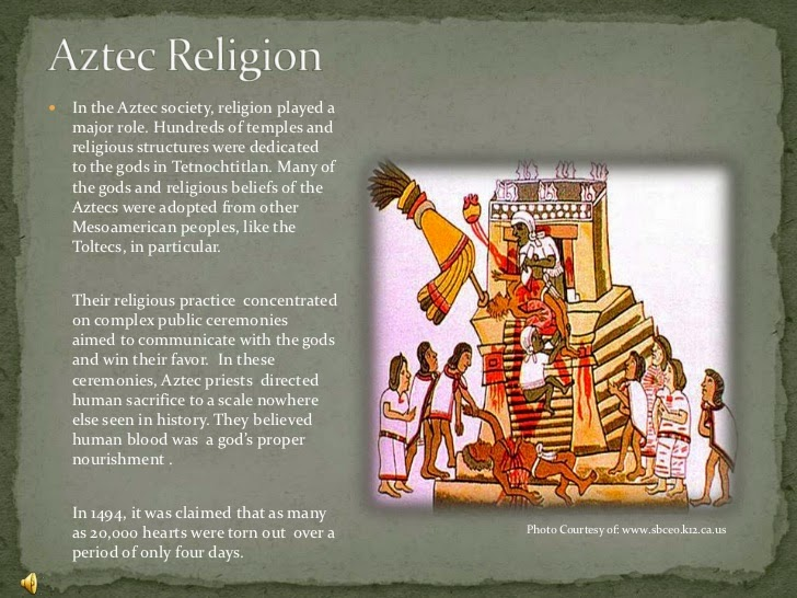 the history of mesoamerican religion the religion of the aztecs