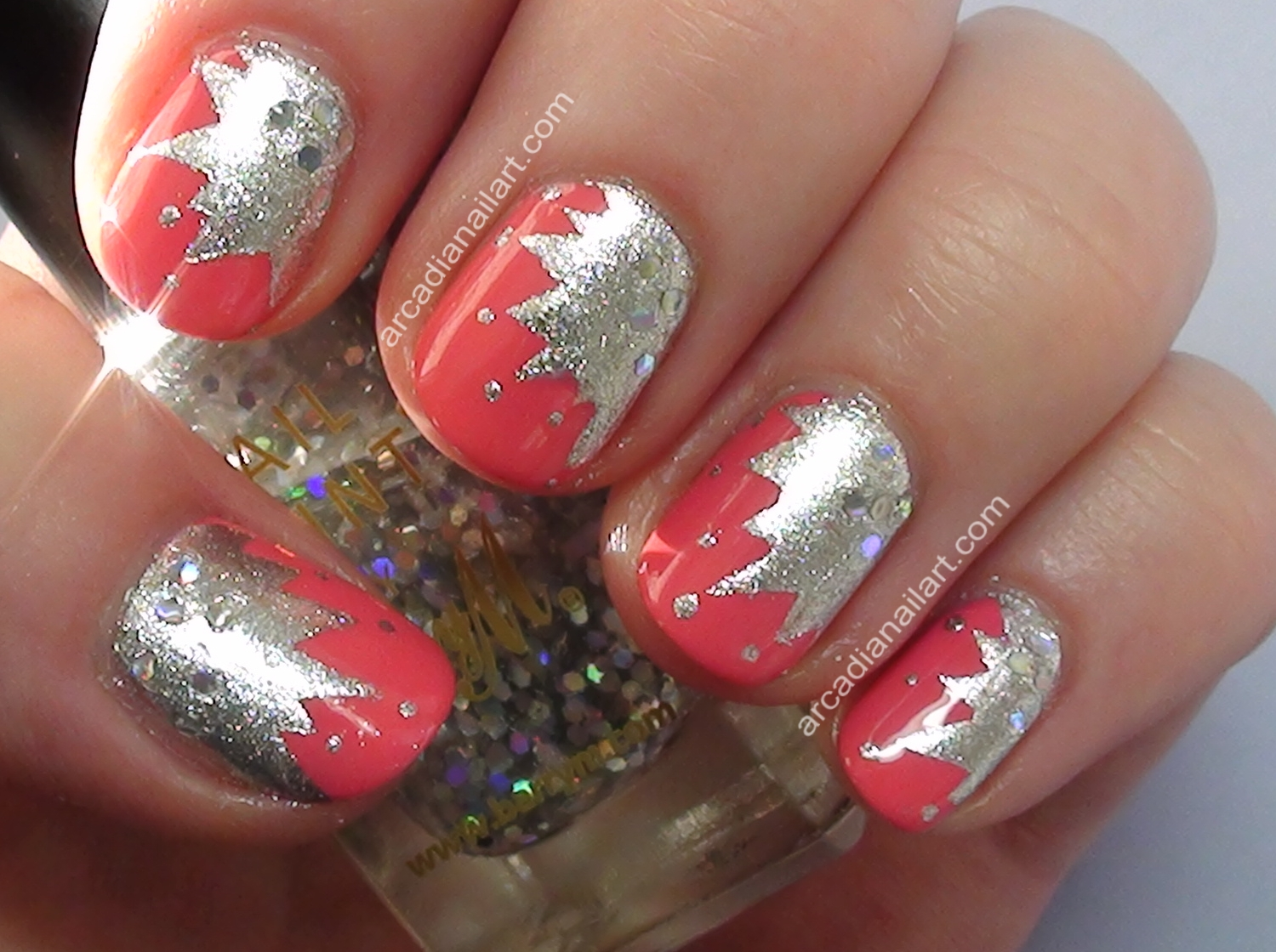 Easy Starburst Nail Art Using Tape