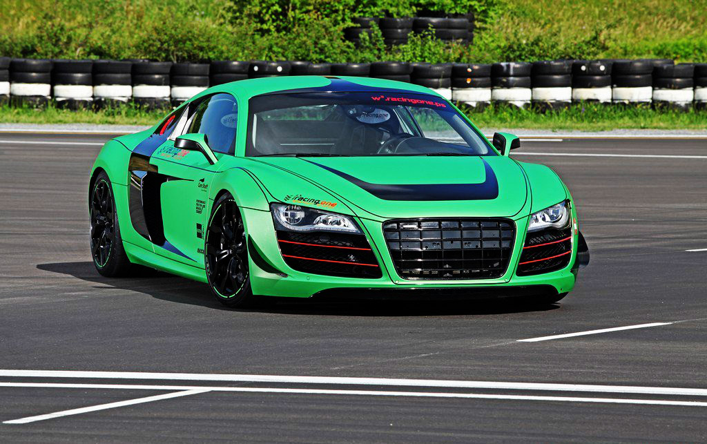 Car News Green Audi R8 V10 Tuned By Racing One On Car News