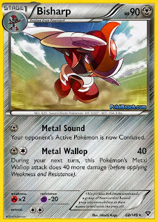 Bisharp Pokemon X and Y Card