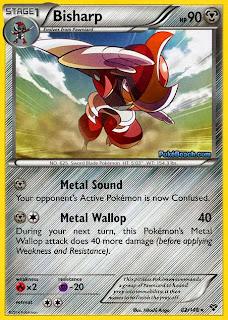 Bisharp Pokemon X and Y Card