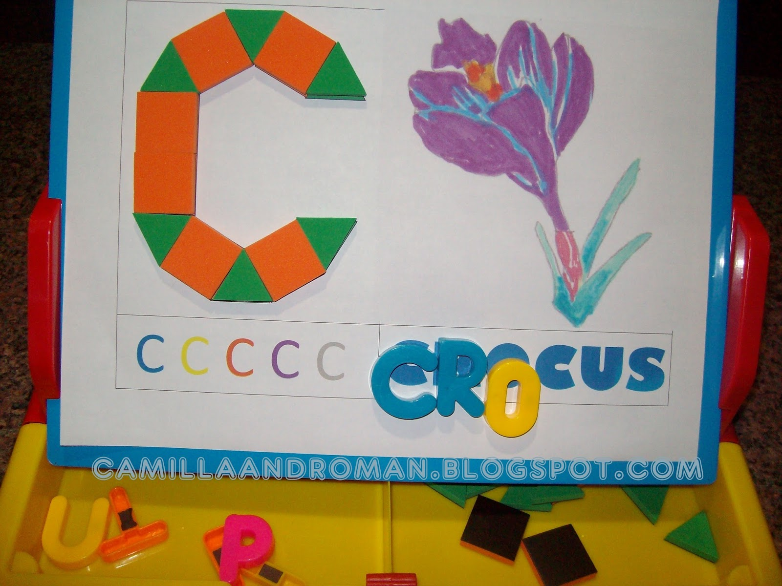 Camilla and roman spring flowers pattern blocks and letter spring flowers i combined learning the names of the flowers with the letter reviews and introduction to the pattern blocks dhlflorist Image collections