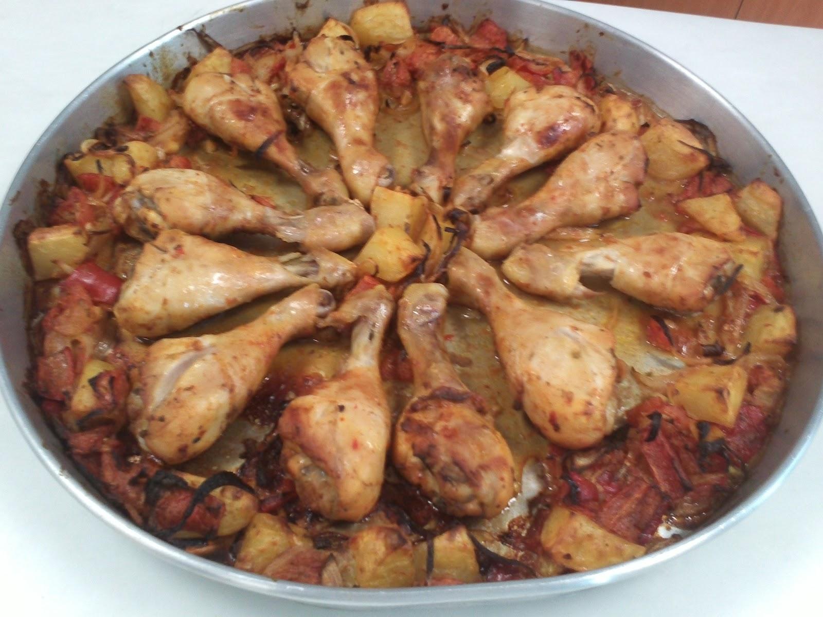 Fırında Sebzeli Tavuk But