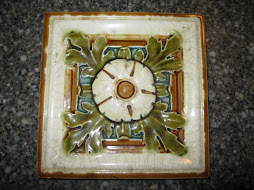 Majolica Tile Dogwood Flower