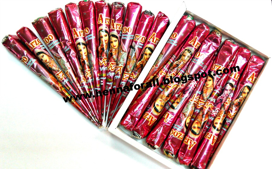 WHOLESALE OF HENNA AND FASHION ACCESSORIES WORLDWIDE Arzoo Henna Cones