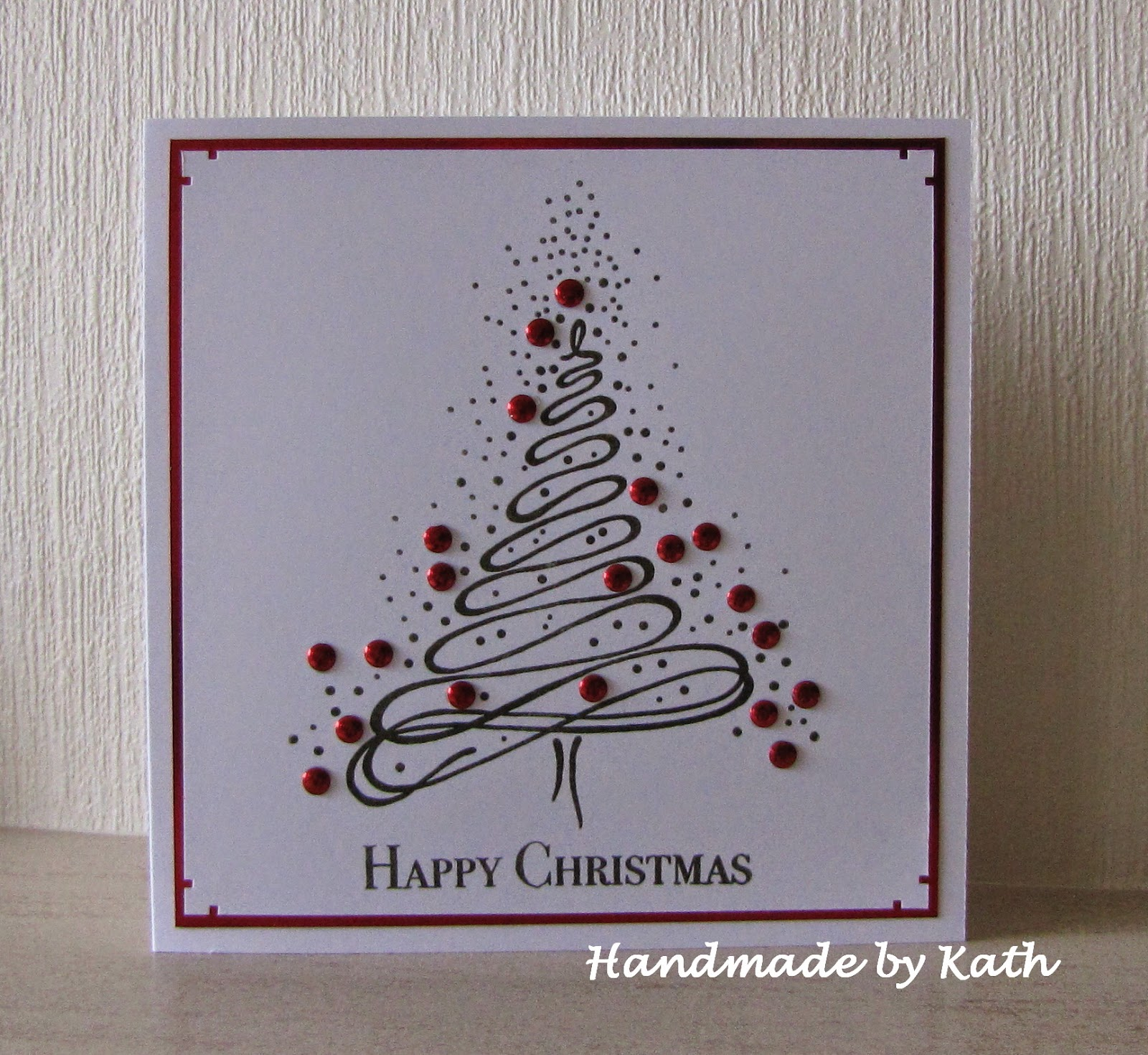 Handmade by Kath: Embossed Christmas Tree