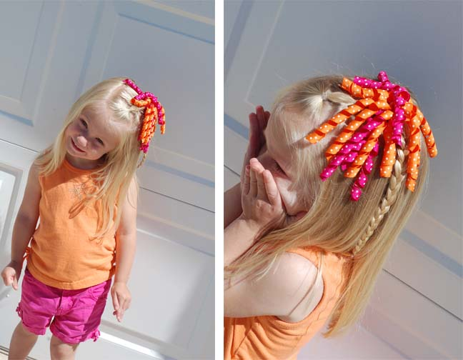 hair bows in curly hair - photo #29