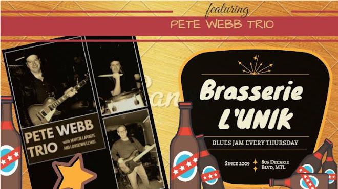 Pete Webb Trio hosting March 21