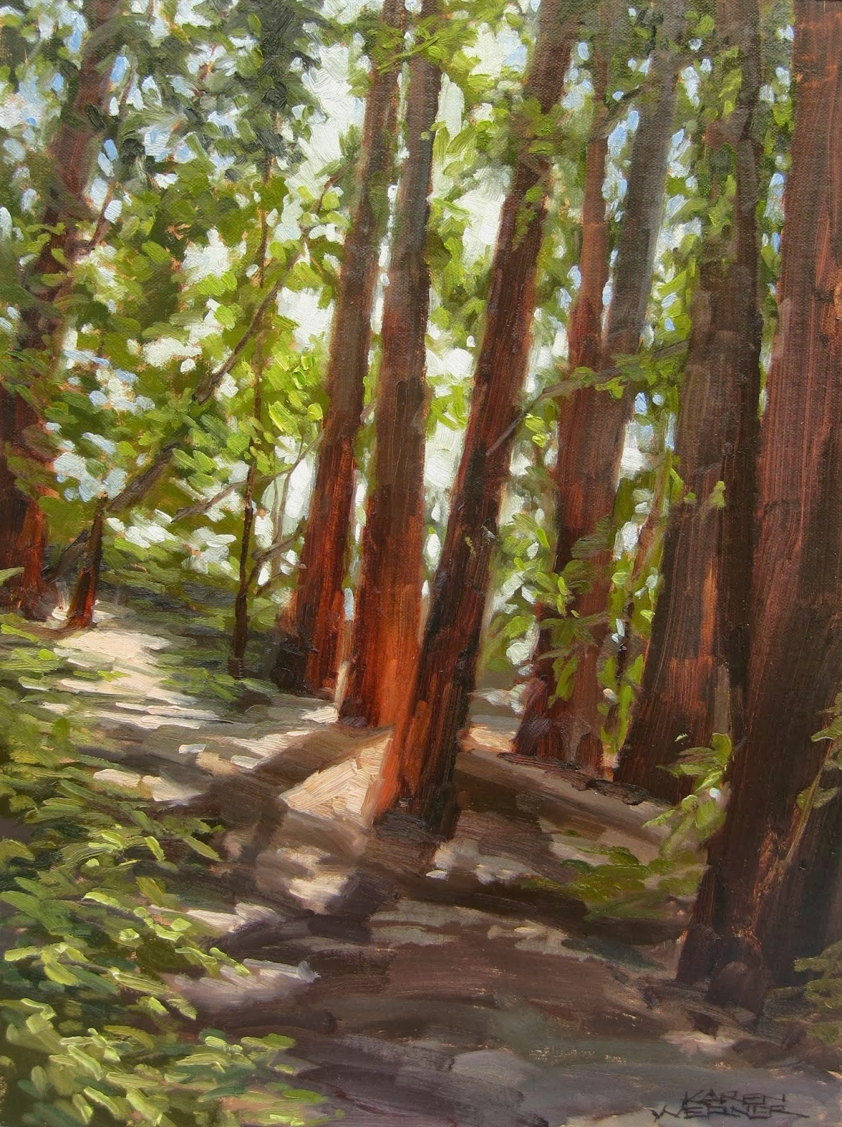 Redwood Tree Painting By huge redwoods Redwood Tree Painting