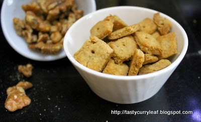 Nutty Cheese Crackers | Easy N Tasty
