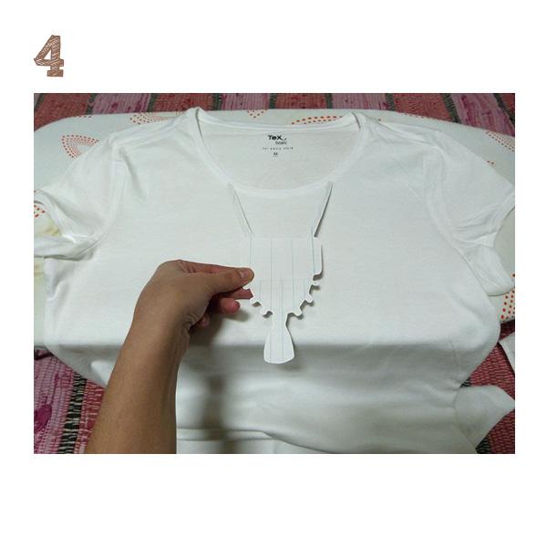 situar el diseño en transfer sobre la camiseta