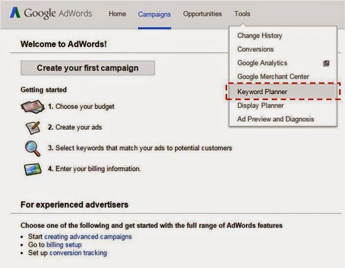 cara memakai google adwords