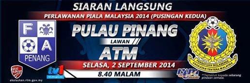 Siaran Langsung Piala Malaysia 2 September 2014