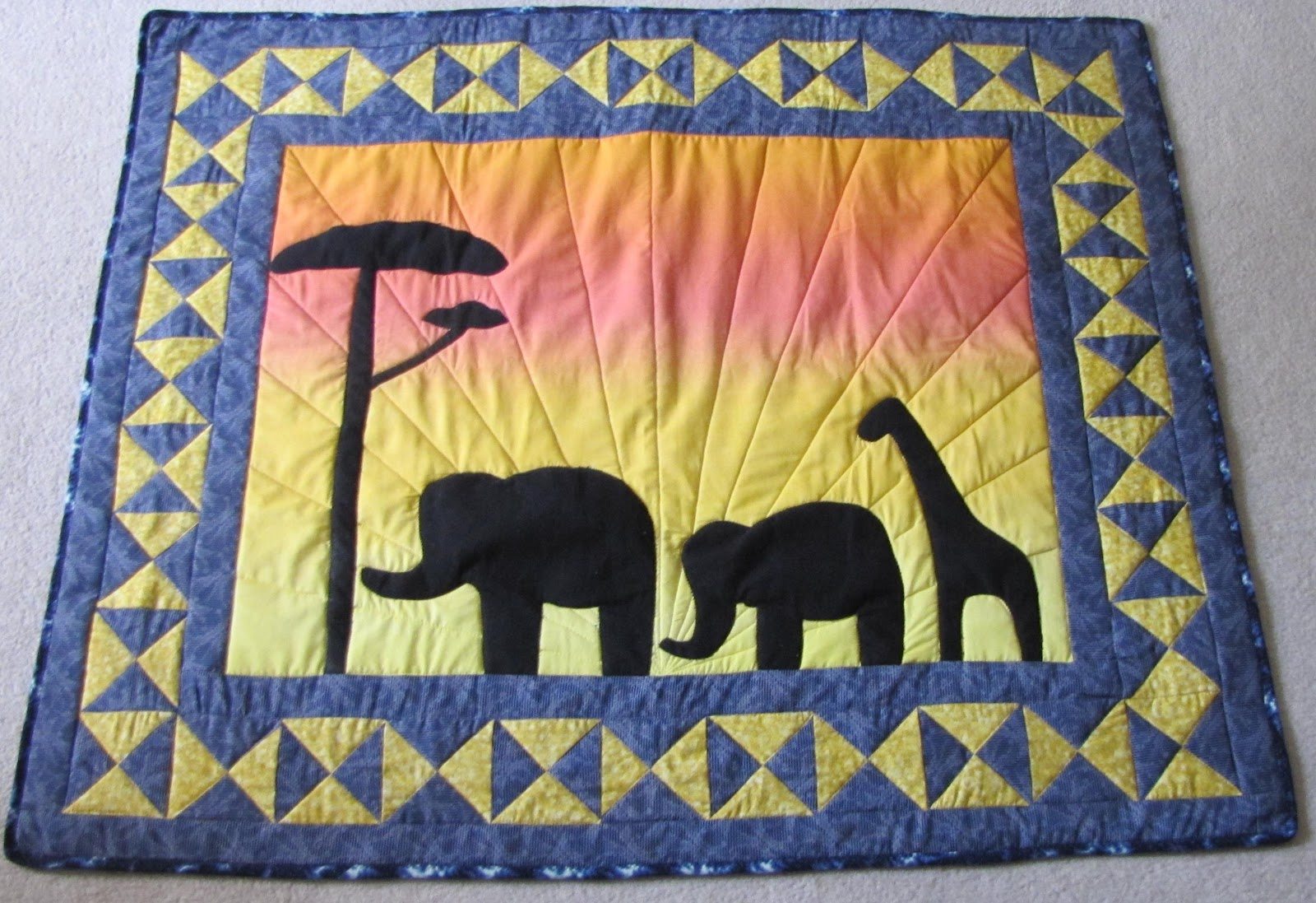 Faith, Folklore, and Friends: African Quilt/Wallhanging