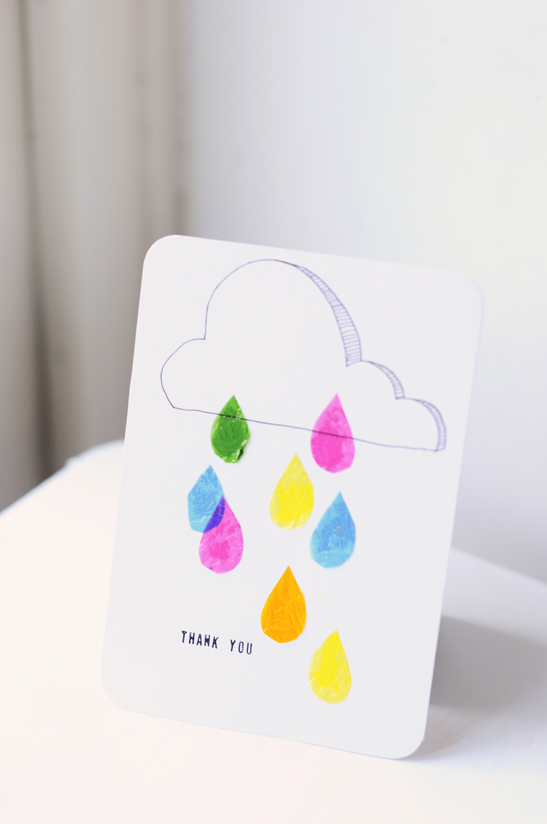 rain thank you cards