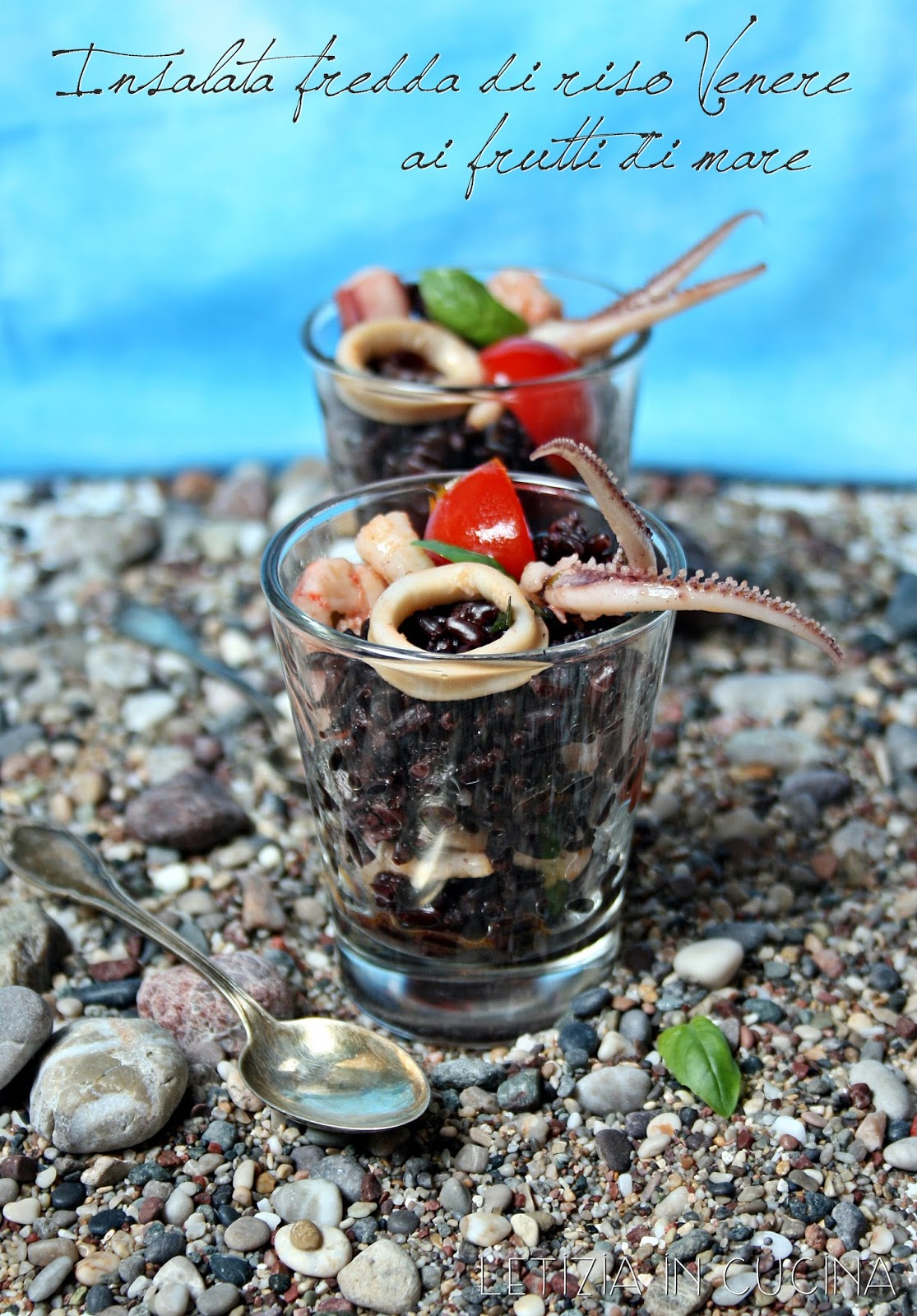 Letizia in Cucina: Insalata fredda di riso Venere ai frutti di mare