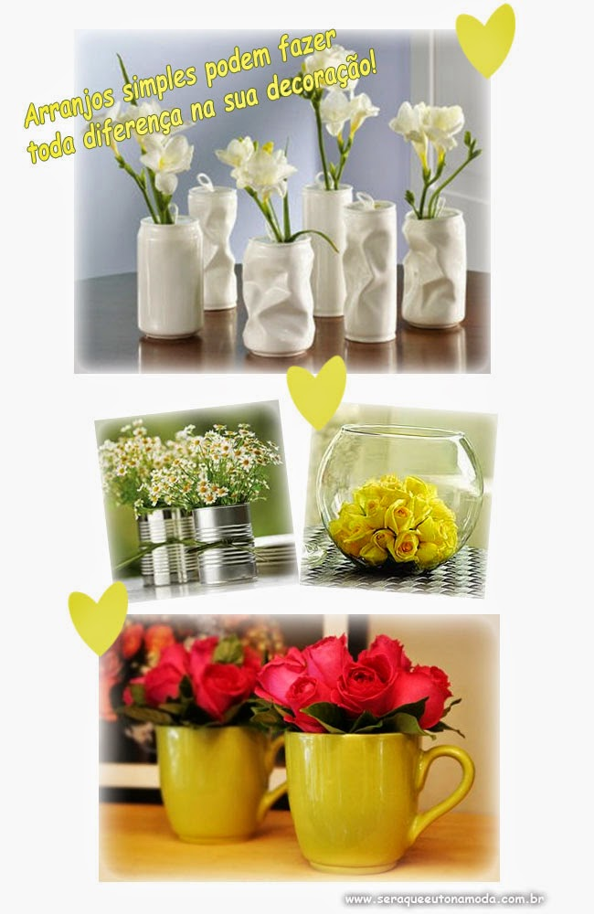 Decoração fácil vaso de flores