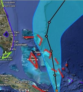 Hurrikan SANDY Vorschau Bahamas Zugbahn Verlauf, Great Abaco, Cat Island, Harbour Island, Exumas, Hurrikanwarnung, Florida, aktuell