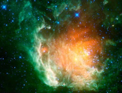 WISE menunjukkan sekumpulan bintang Berkeley 59, bintang mudah yang berumur beberapa juta tahun, menyerupai mawar bunga mawar - WISE menunjukkan sekumpulan bintang Berkeley 59, bintang mudah yang berumur beberapa juta tahun, menyerupai mawar bunga mawar