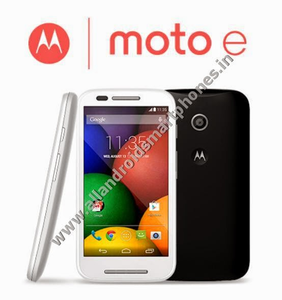 Motorola Moto E Android KitKat 3G Dual Sim Smartphone White Black Color Front Back Photos Images Review