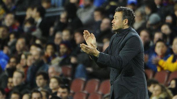 Luis Enrique disfrutó presenciando la exhibición del Barça