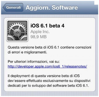 Download iOS 6.1 beta 4