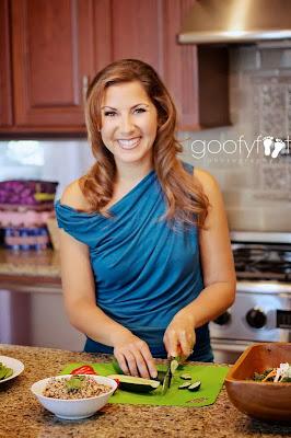 Stephanie Dreyer (VeegMama) in her kitchen
