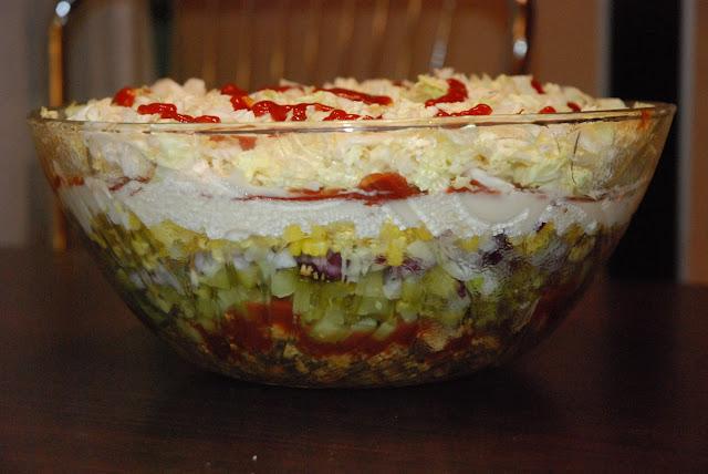 Gyros Salad with Tzatziki Dressing