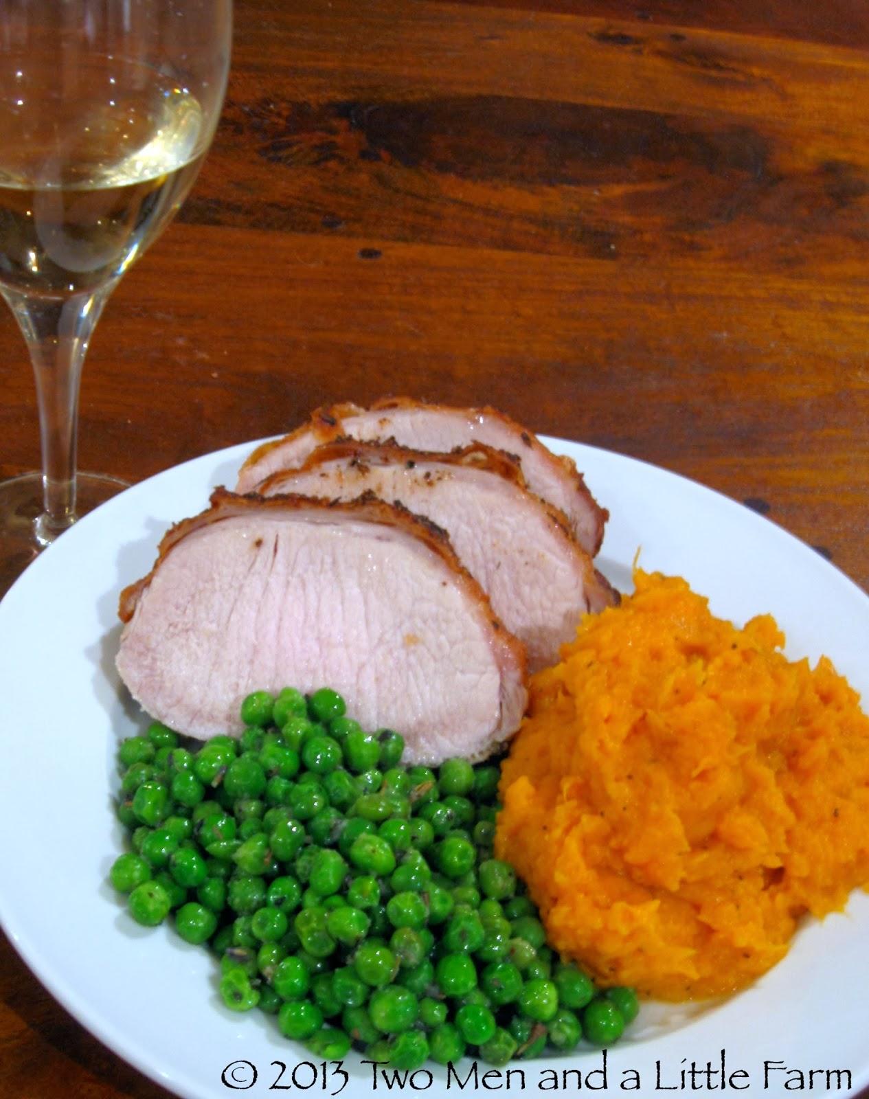 sweet potatoes roast pork loin and baked potato wedges pork tenderloin ...