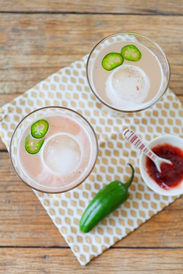 16. Spicy Strawberry Margaritas (pictured above) by The Effortless ...